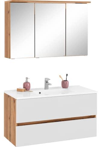 HELD MÖBEL Badmöbel-Set »Lucca«, (2 St.), Breite 100 cm, mit direkter Beleuchtung kaufen