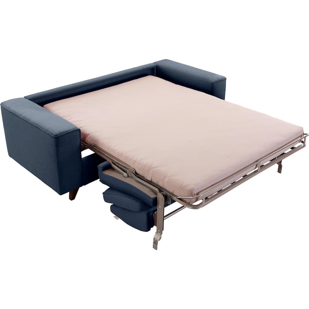 TOM TAILOR Schlafsofa »NORDIC SLEEP«, Füße wengefarben, Breite 232 cm, Matratzenbreite 163 cm