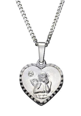 Firetti Kette mit Anhänger »Herz mit Schutzengel«, mit Kristallstein kaufen