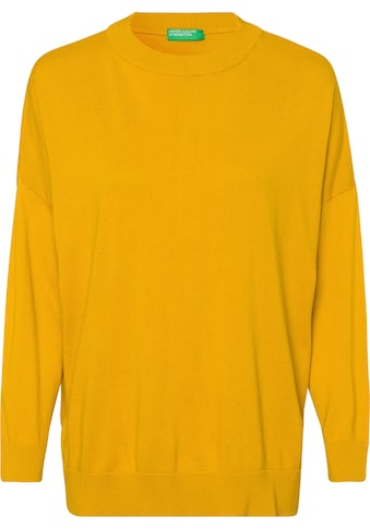United Colors of Benetton Rundhalspullover, mit geschlitzem Saum kaufen