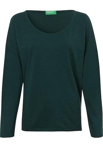 United Colors of Benetton Langarmshirt, in cleaner Basic-Optik kaufen