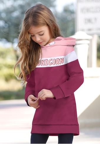 KIDSWORLD Sweatkleid »UNICORN«, mit Glitzerprint kaufen