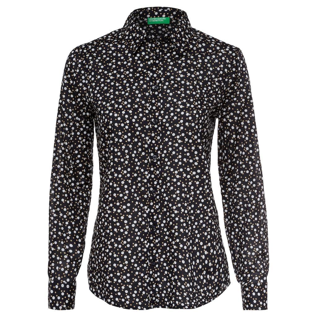 United Colors of Benetton Hemdbluse »Bluse«, mit individuellem Minimalprint