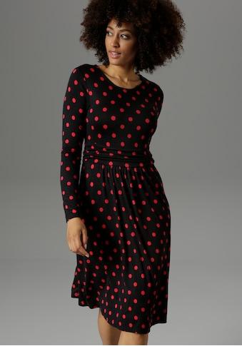 Aniston SELECTED Jerseykleid, im zeitlosen Punkte-Design kaufen