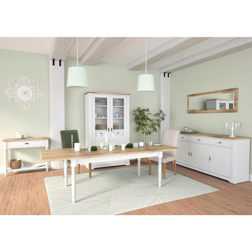 Home affaire Konsolentisch »Cottage«, aus schönem Eichenholzfurnier, im zeitlosen Design, Breite 100 cm