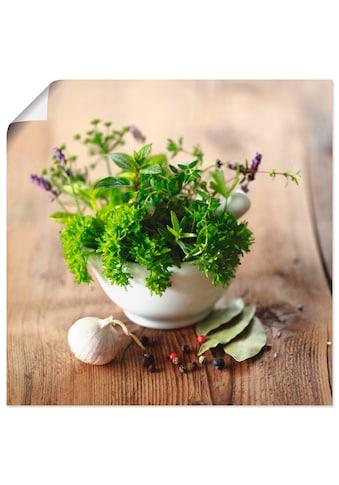 Artland Wandbild »Verschiedene Kräuter  -  Küche« kaufen
