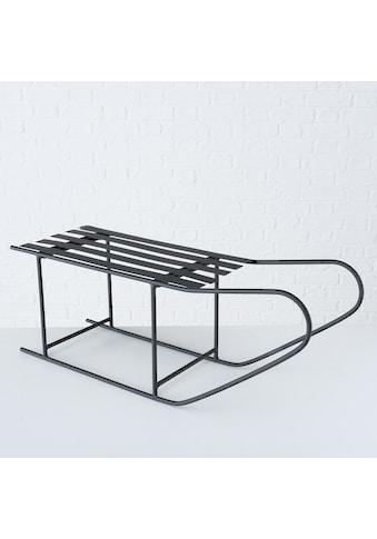 BOLTZE Dekoobjekt »Dekoschlitten Samy«, aus Eisen, 77x25 cm, Weihnachtsdekoration kaufen