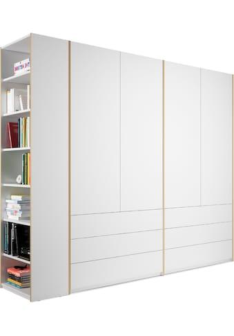 Müller SMALL LIVING Kleiderschrank »Modular Plus Variante 4«, inklusive 6 geräumiger Schubladen, Anbauregal wahlweise links oder rechts montierbar kaufen