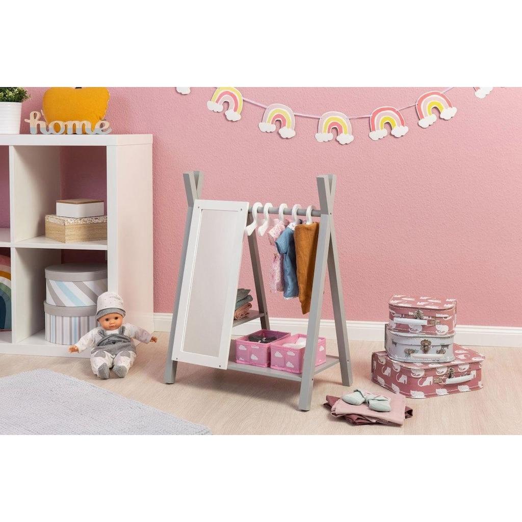 MUSTERKIND® Puppenkleiderschrank »Barlia, grau/weiß«