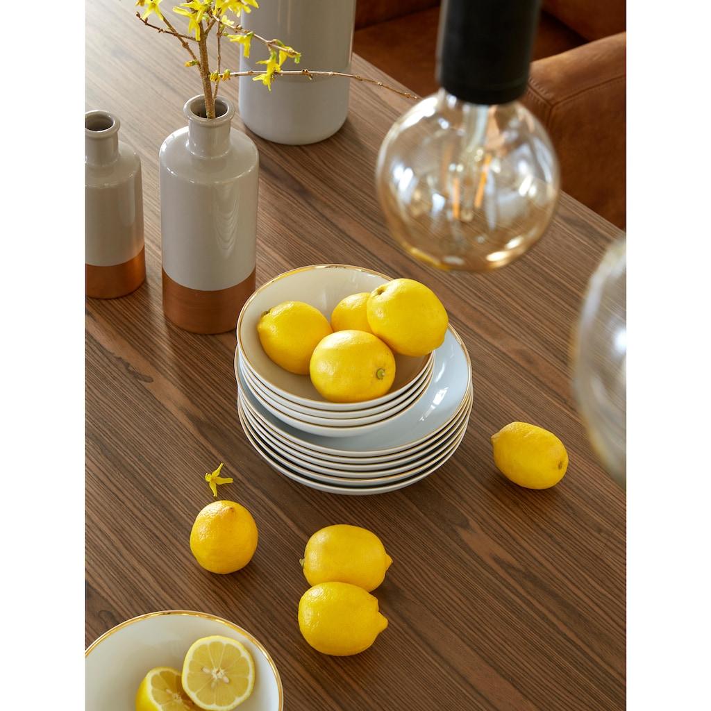Guido Maria Kretschmer Home&Living Tafelservice »Golden Line«, (Set, 12 tlg.), handgemalter Goldrand