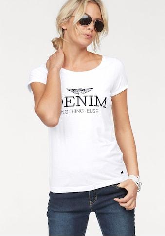 """Arizona Print-Shirt, mit großem """"Denim"""" Statement Druck kaufen"""