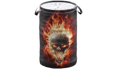 Sanilo Wäschekorb »Totenkopf in Flammen« kaufen