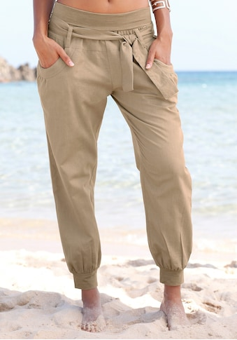 Buffalo Strandhose, aus Leinen-Mix kaufen