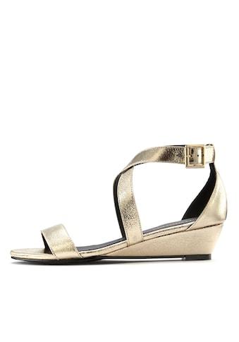 LASCANA Sandalette, mit Keilabsatz und Glanz-Optik kaufen