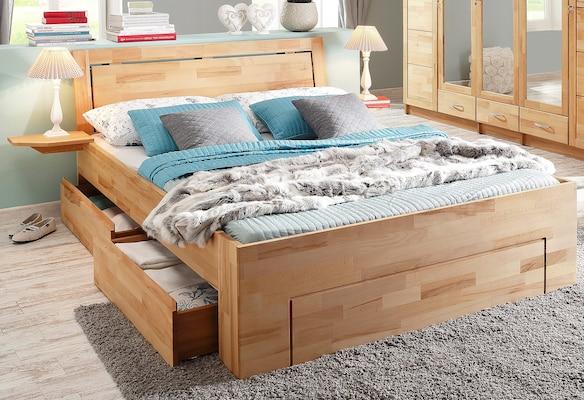 Stauraumbett als Doppelbett