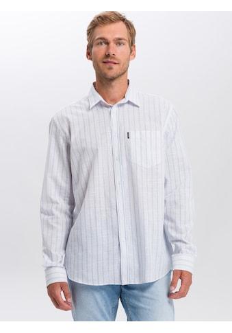 Cross Jeans® Langarmhemd »35353«, Elegante Längsstreifen kaufen