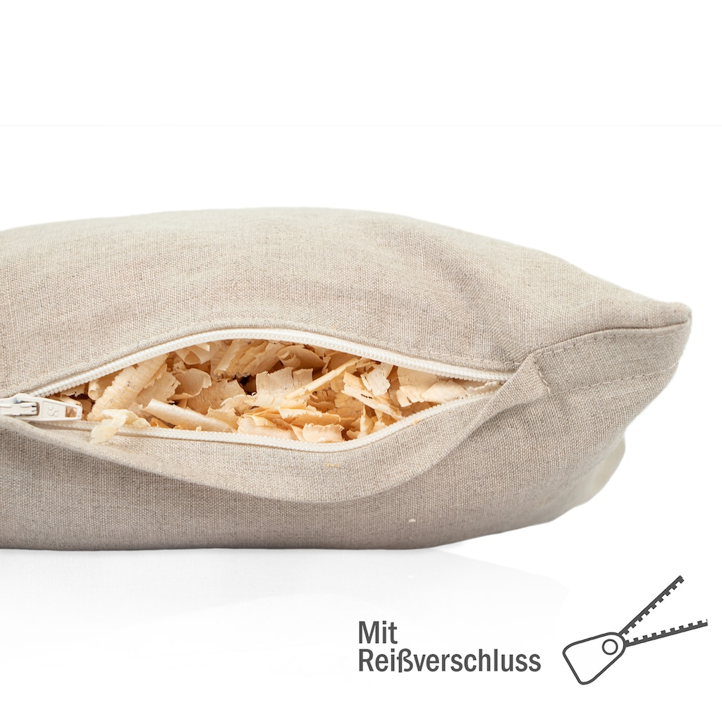 Zirbelino Duftkissen »Zirbenduftkissen«, Füllung: 100% Zirbenspäne, Bezug: 100% Leinen, (1 St.), mit reinen Zirbenspänen gefüllt - Made in Austria