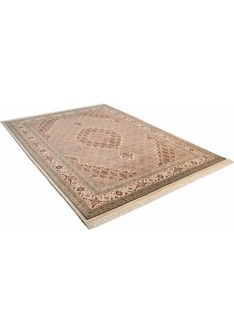 THEKO Orientteppich »Mahi Tabriz«, rechteckig, 12 mm Höhe, Flor aus 30% Seide, handgeknüpft, mit Fransen, Wohnzimmer kaufen