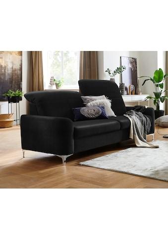 Places of Style 3-Sitzer »Benicia«, mit manueller Kopfteilverstellung und klappbaren Armlehnen, auch in Naturleder, Bezug Struktur weich mit Wasser zu reinigen kaufen