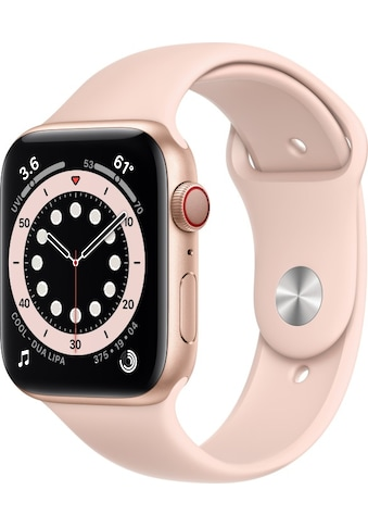 Apple Smartwatch »Apple Watch Series 6 GPS + Cellular, Aluminium Gehäuse, 44 mm mit Sportarmband«, ( ) kaufen
