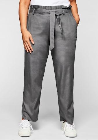 Sheego Stretch-Hose, in knöchelfreier Paperbag-Optik kaufen