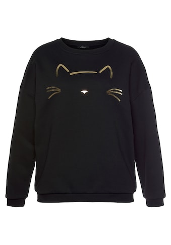 Mavi Sweatshirt, mit Katzen Stickerei vorne kaufen