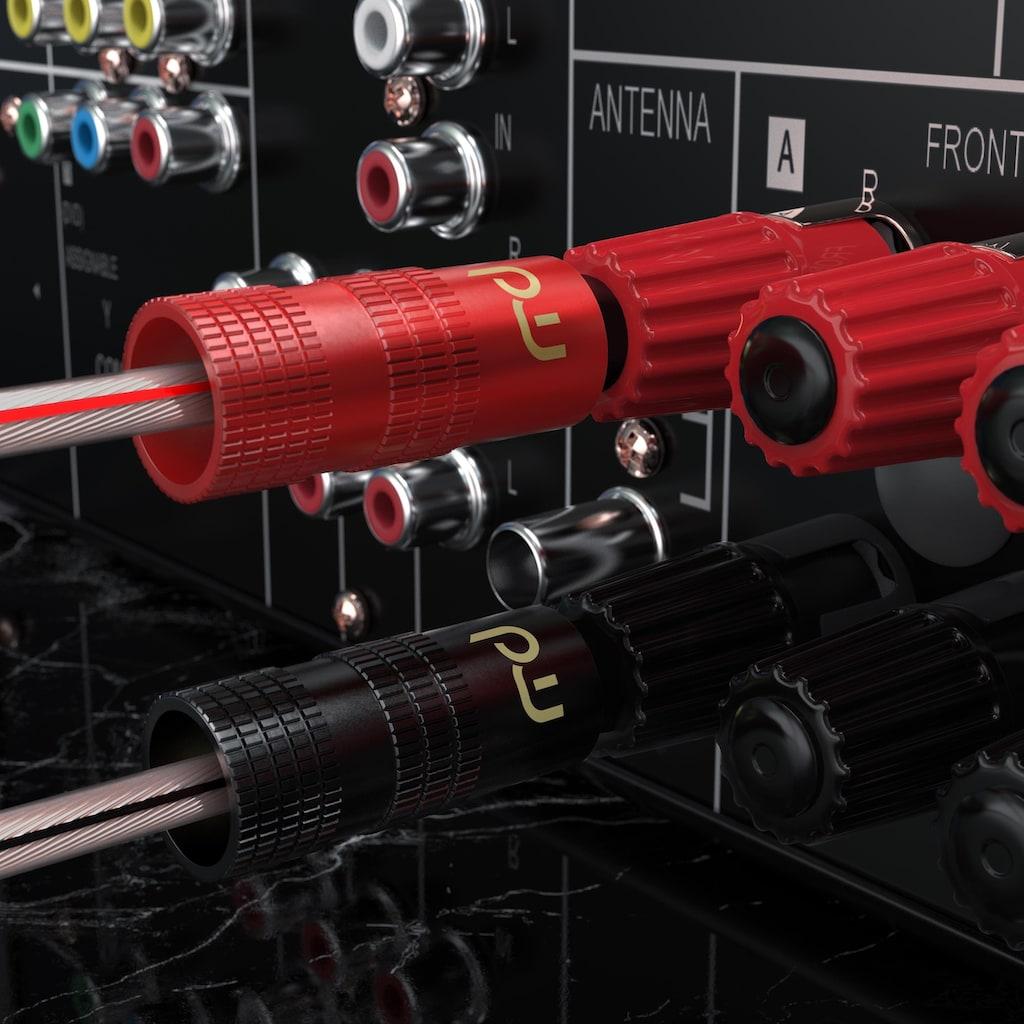 Primewire Audioadapter Bananenstecker für Kabel bis 4mm²