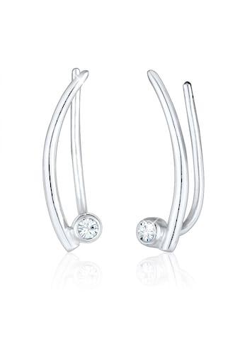 Elli Paar Ohrstecker »Ear Climber Swarovski® Kristalle Trend 925 Silber« kaufen