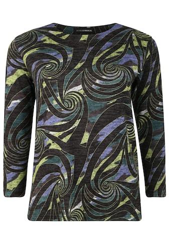 Doris Streich Strickpullover »mit buntem Muster«, mit Kontrastverarbeitung kaufen