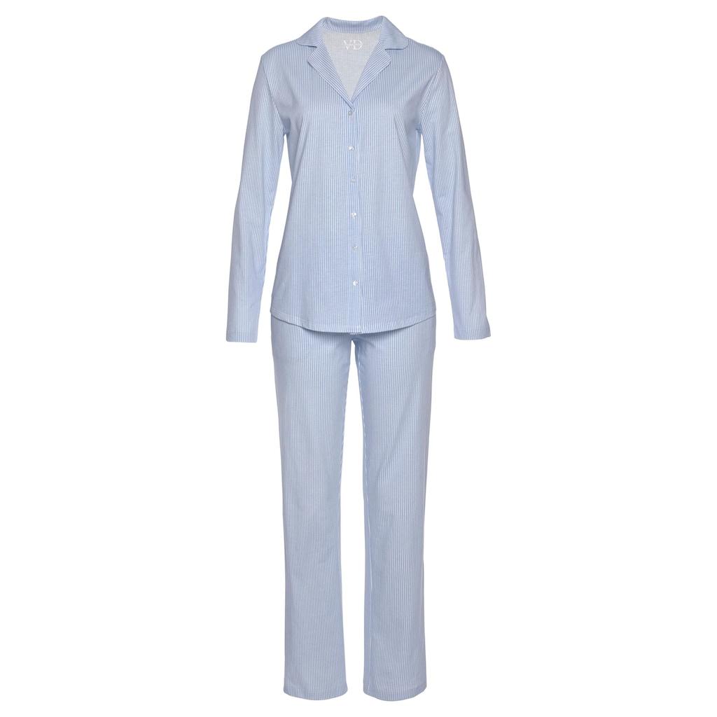 Vivance Dreams Pyjama, mit feinem Muster