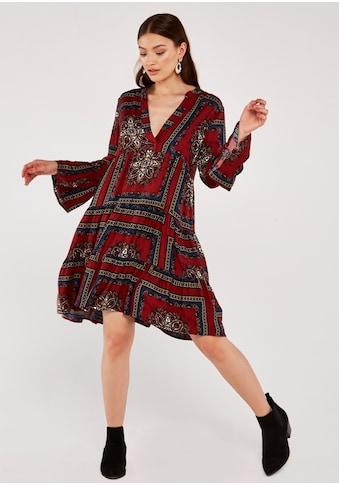 Apricot Druckkleid »Scarf Print Tiered Dress«, mit V-Ausschnitt kaufen