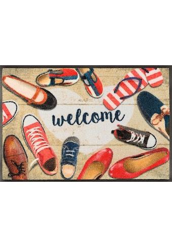 wash+dry by Kleen-Tex Fußmatte »Shoes welcome«, rechteckig, 7 mm Höhe, Fussabstreifer,... kaufen