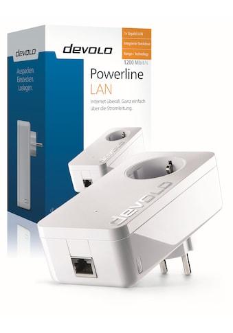 DEVOLO LAN-Router »Powerline, 1xGB LAN, Steckdose, Netzwerk, range+)«, dLAN 1200+... kaufen