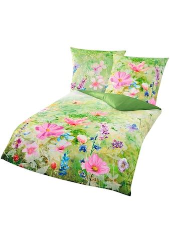 BIERBAUM Bettwäsche »Meadow«, mit schöner Blumenwiese kaufen