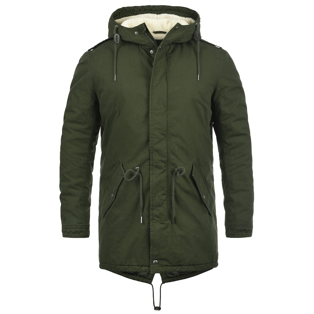 Solid Winterjacke »Darnell«, warme Jacke lang geschnitten