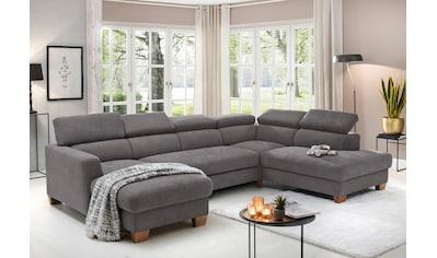 Home affaire Wohnlandschaft »Steve Luxus«, mit besonders hochwertiger Polsterung für bis zu 140 kg pro Sitzfläche kaufen