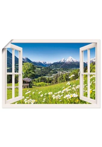 Artland Wandbild »Fensterblick Bayerischen Alpen« kaufen