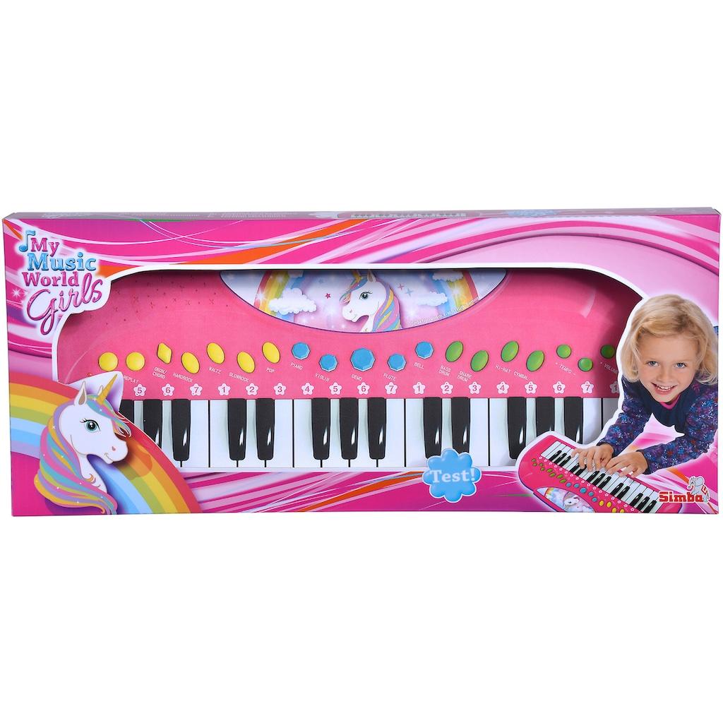SIMBA Spielzeug-Musikinstrument »My Music World Girls, Einhorn Keyboard«