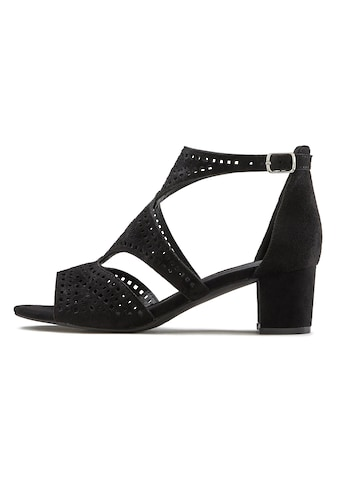 LASCANA Sandalette, mit Cut-Outs und bequemen Blockabsatz kaufen