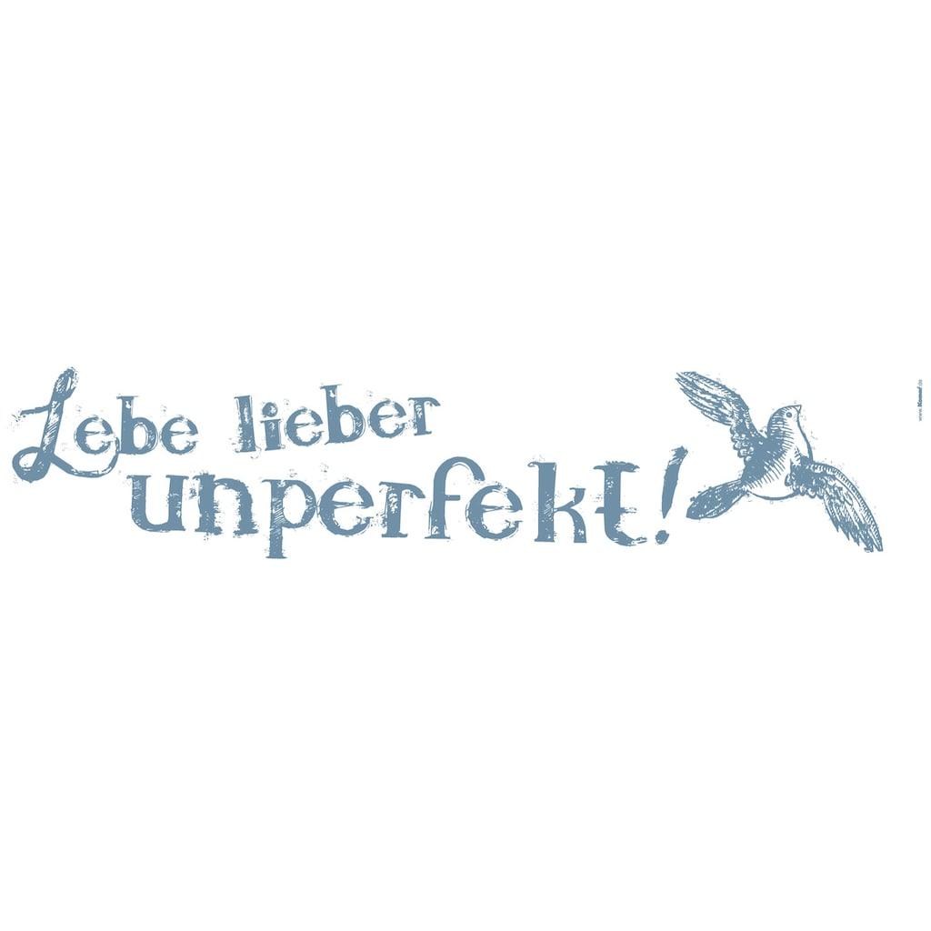 Komar Wandtattoo »Lebe lieber unperfekt«, selbstklebend, rückstandslos abziehbar
