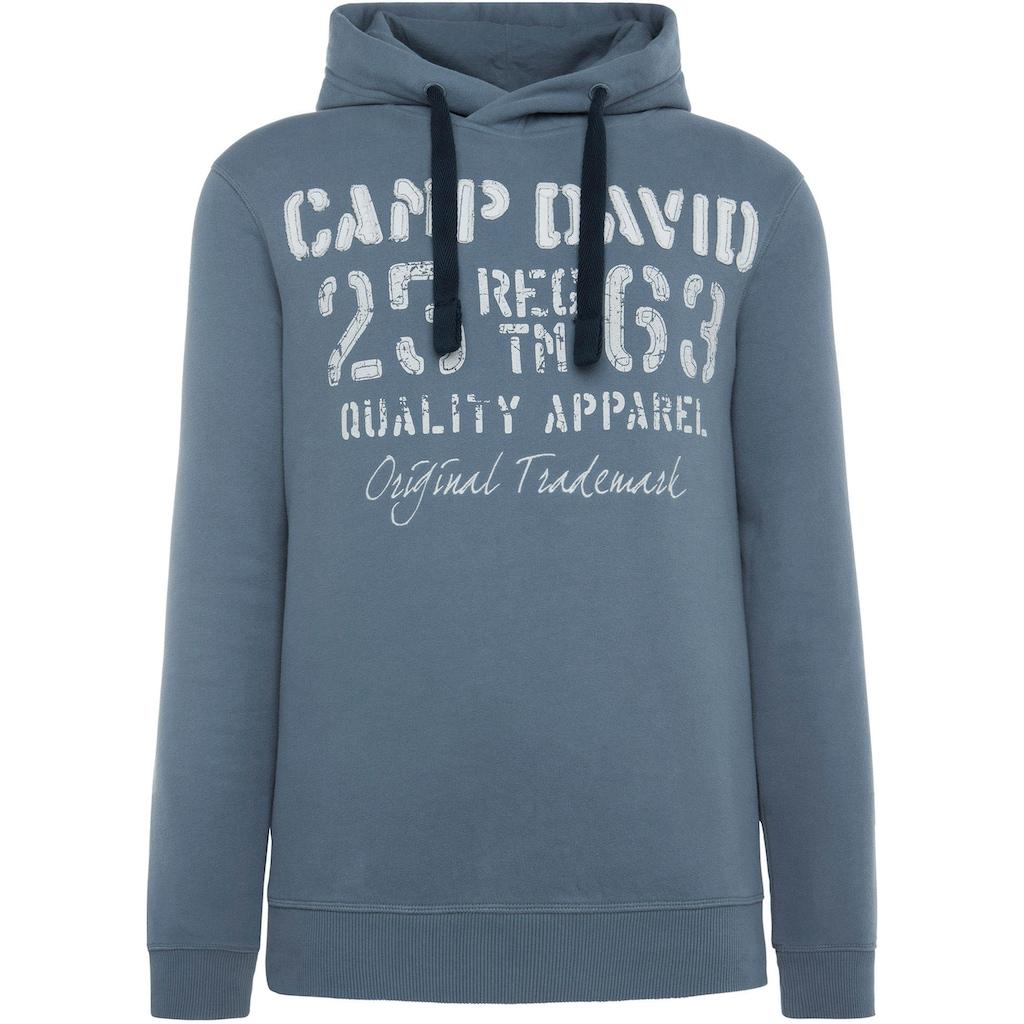 CAMP DAVID Kapuzensweatshirt, mit großem Frontprint