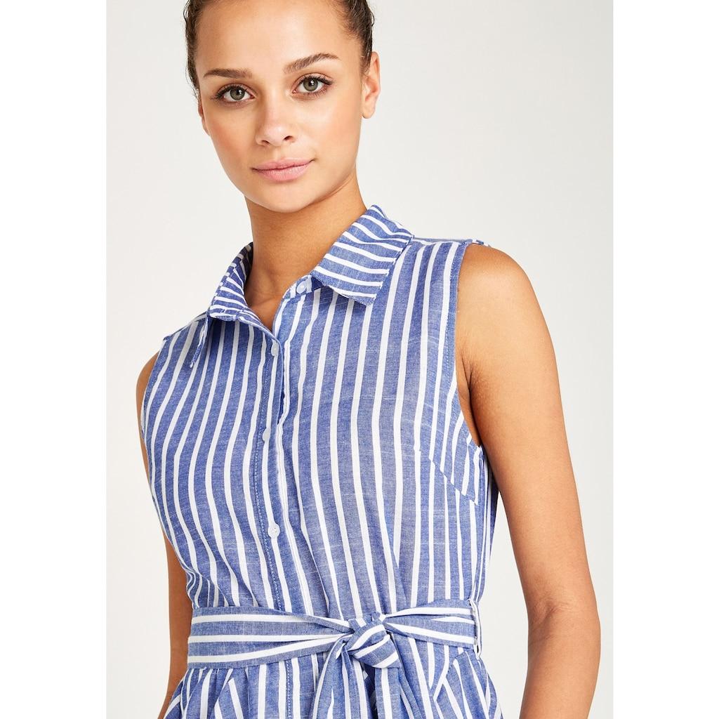 Apricot Sommerkleid »Pinstripe Button Tie Waist Dress«, (mit Bindegürtel), mit Streifen