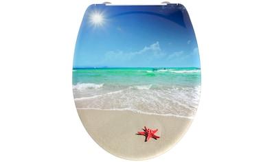 welltime WC-Sitz »Beach«, hochwertiger abnehmbarer Premium-Toilettendeckel mit... kaufen
