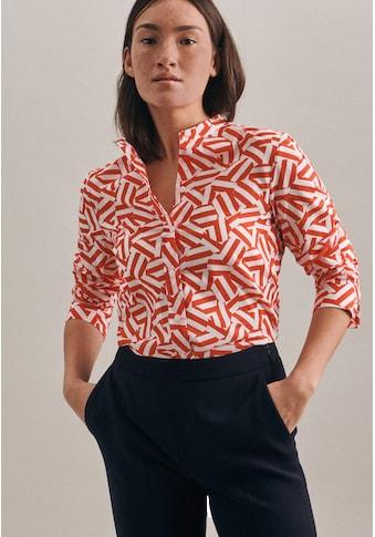 seidensticker Klassische Bluse »Schwarze Rose«, Langarm Kragen Druck kaufen
