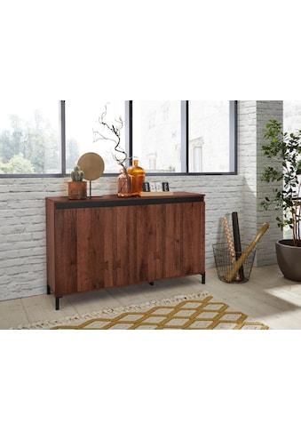 KITALY Sideboard »Genio Industrial«, Mit wendbare Blende in weiß/ anthrazit, Breite 138 cm kaufen