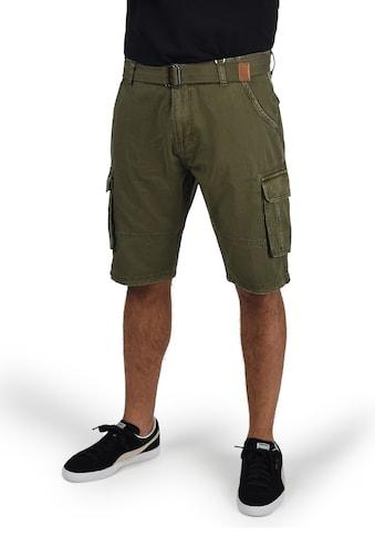 Indicode Cargoshorts »Costa«, kurze Hose mit Gürtel kaufen