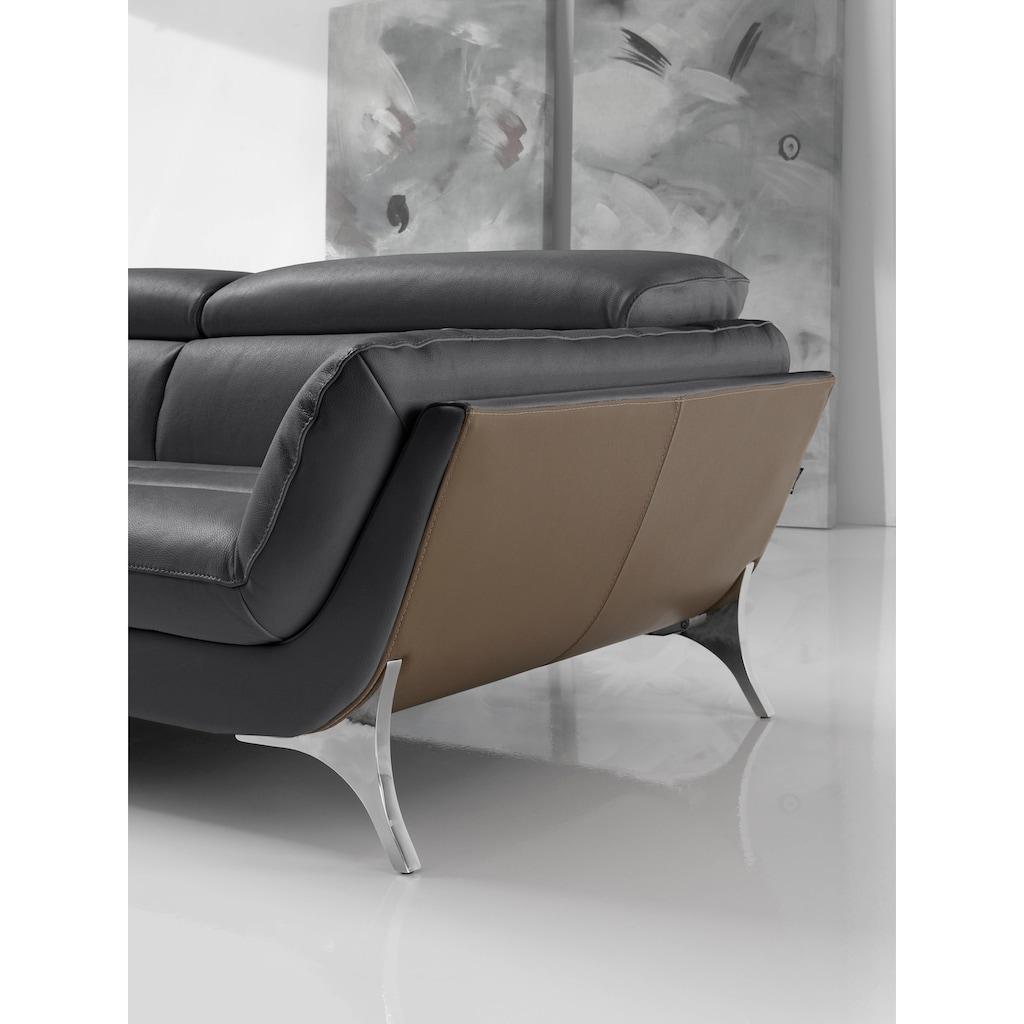 Egoitaliano Polstergarnitur »Sueli«, (Set), Bezug Leder, inklusive Kopfteilverstellung, Set: bestehend aus Sofa und Recamiere