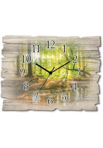 Artland Wanduhr »Wald mit Bach« kaufen
