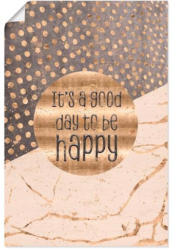 Artland Wandbild »Ein guter Tag um glücklich zu sein«, Sprüche & Texte, (1 St.), in... kaufen