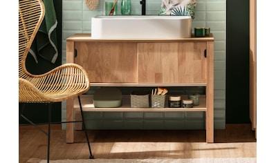 Home affaire Waschbeckenunterschrank »April«, Schiebetüren aus Massivholz, Breite 100 cm kaufen